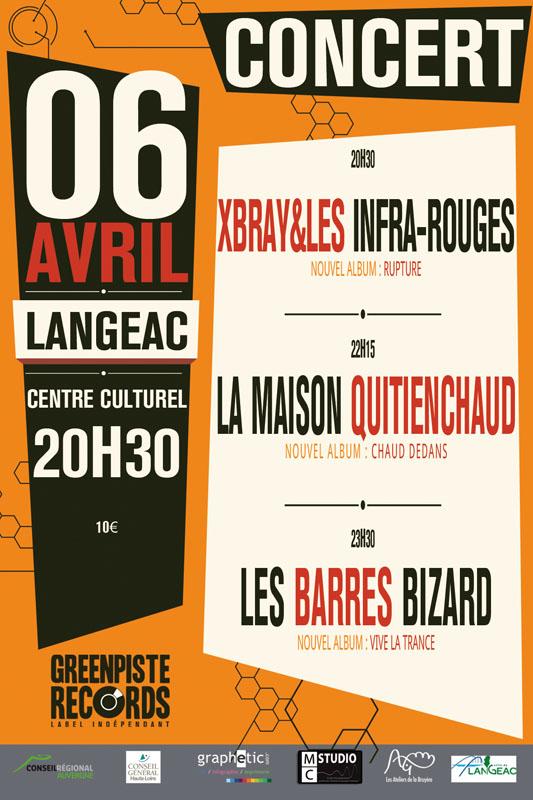Affiche Concert affiche concert soirée greenpiste records | graphetic