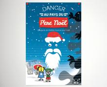 Carte spectacle de Noël