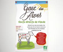 Carte de visite & flyer agriculteur Bio